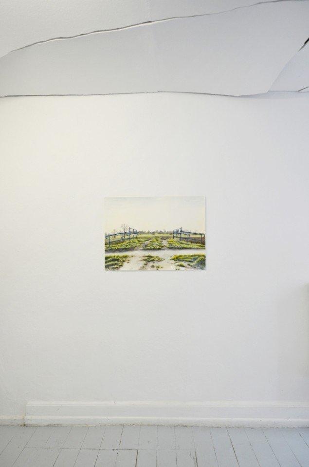 Anne Skole Overgaard: Stien mellem Fossato og Rodigo, 2014. Akvarel. Foto: Anne Skole Overgaard