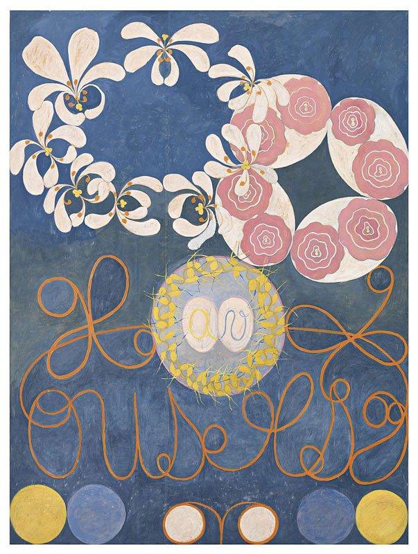 Hilma af Klint: De ti største, nr. 1, Barndommen, gruppe IV, 1907. © Stiftelsen Hilma af Klints Verk. Foto: Albin Dahlström, Moderna Museet