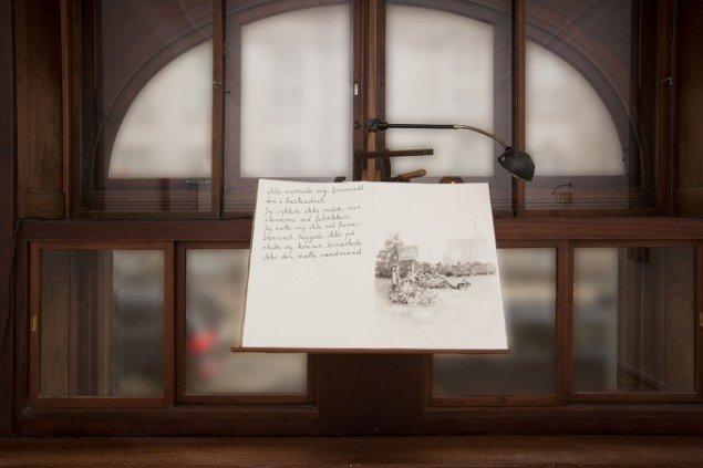 Hartmut Stockter: Missed Daytrips, 2014, bælk og gouache på papir, 50x72 cm. Foto: Hartmut Stockter/LARMgalleri