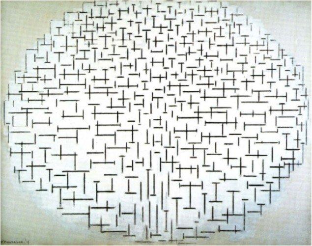 Udviklingen hos Mondrian (1915)