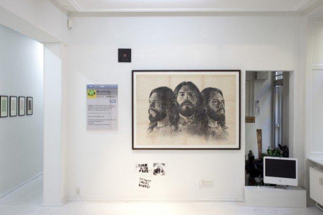 David Byrne, Geraldine Swayne, Kasper Eistrup. Grafitti, Jim Drain. Foto: Erling Jeppesen