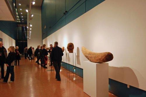 Billede fra udstillingen af Alfred Harberpointner. Foto: Mette Harbo Lehmann