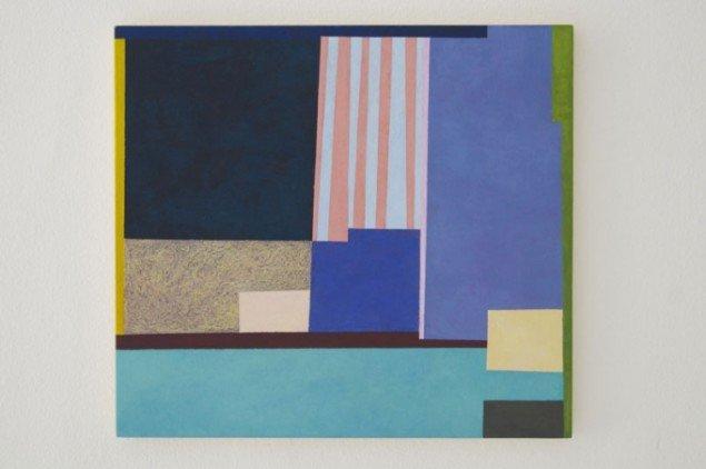 Installationsview, Doug Ashford: Six Paintings and One Photo from Saturday, June 25, 2005. (Last Pool, 2014) hos Bureau Publik. (pressefoto)