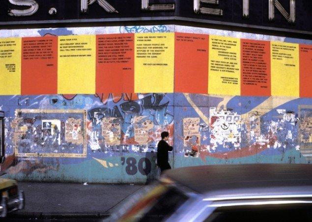 Group Material: DA ZI BAOS, Union Square, NY. 1982.
