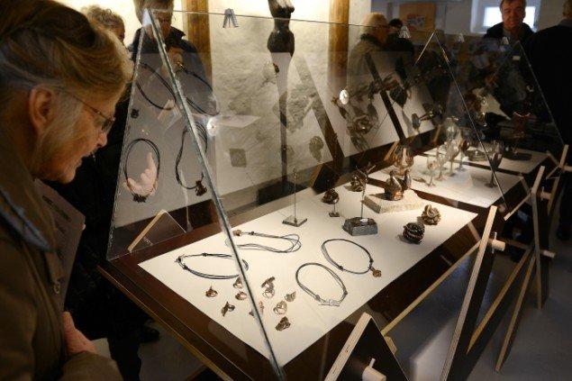 Åbning af udstillingen Jens Galschiøt - Kunst til eftertanke, Kunstetagerne Hobro. Foto: Niels Reiter
