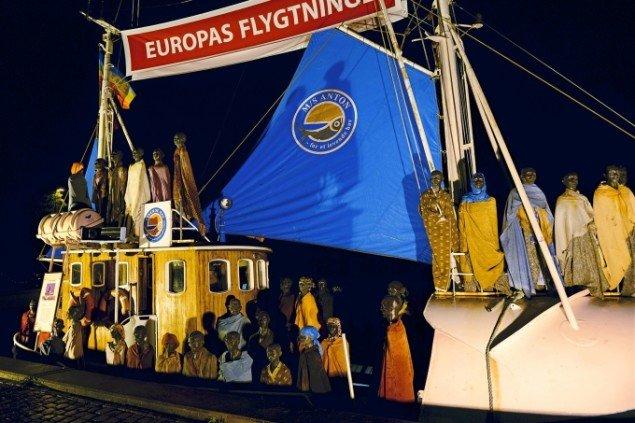 Besøg af Galschiøts Flygtningeskib i Hobro Havn august 2013. Foto: Niels Reiter