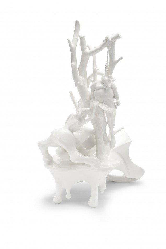 Louise Hindsgavl: Curiosity #3, 2011, porcelæn, 24x42x48 cm. Foto: Louise Hindsgavl