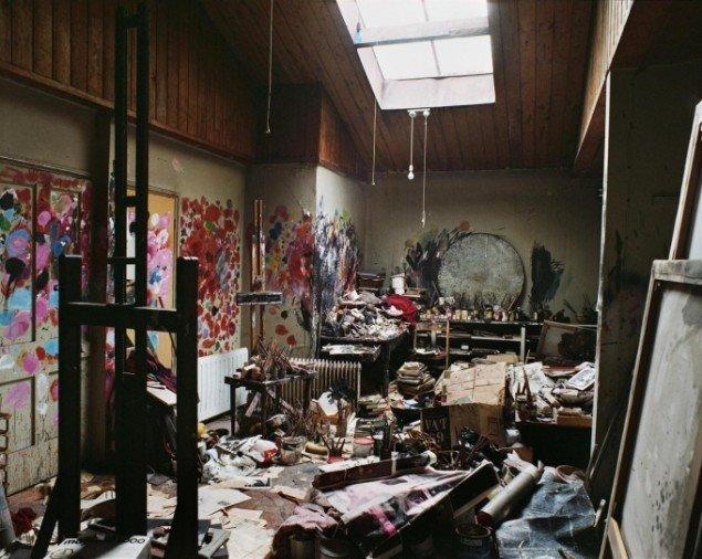 Francis Bacons atelier. Dublin City Gallery, The Hugh Lane, Foto: Perry Ogden, Copyright: Estate of Francis Bacon