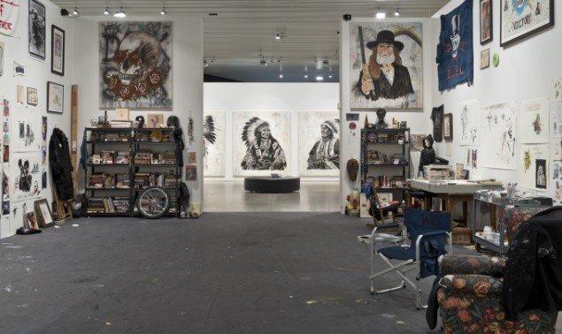 Wes Langs atelier på Aros. Foto: Ole Hein Pedersen