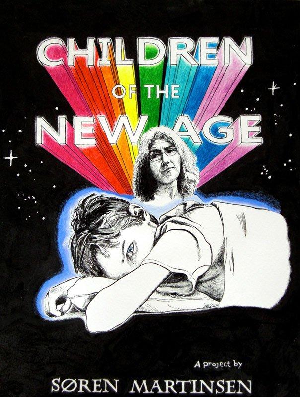 Søren Martinsen: Children of the New Age, plakat, 2010. (Courtesy Martin Asbæk Gallery)