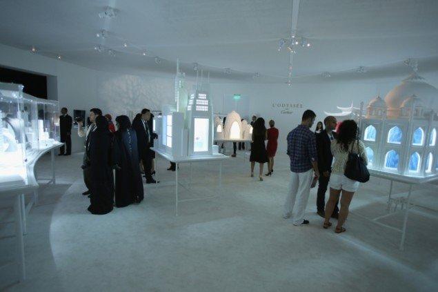 Cartiers sponsorudstilling af diamantbesatte smykker og ure er vildere, dyrere og mere ublu end andre sponsorudstillinger. Pressefoto