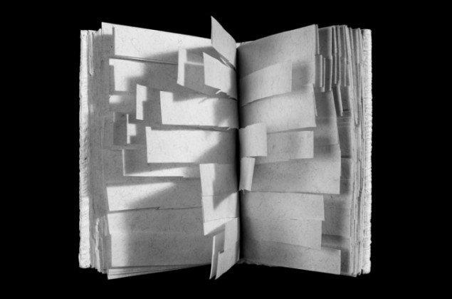 Hvide digte  Mogens Otto Nielsen, 1999. (illustration fra bogen)