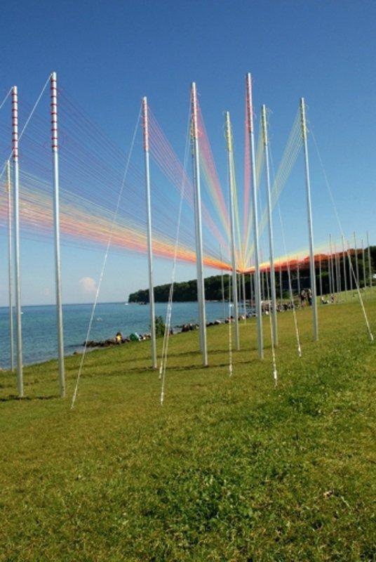 Sculpture by The Sea, der har publikumstal på 500.000. Præcist hvordan det tal er opgjort er ikke helt klart. (Foto: Ole Bak Jakobsen)
