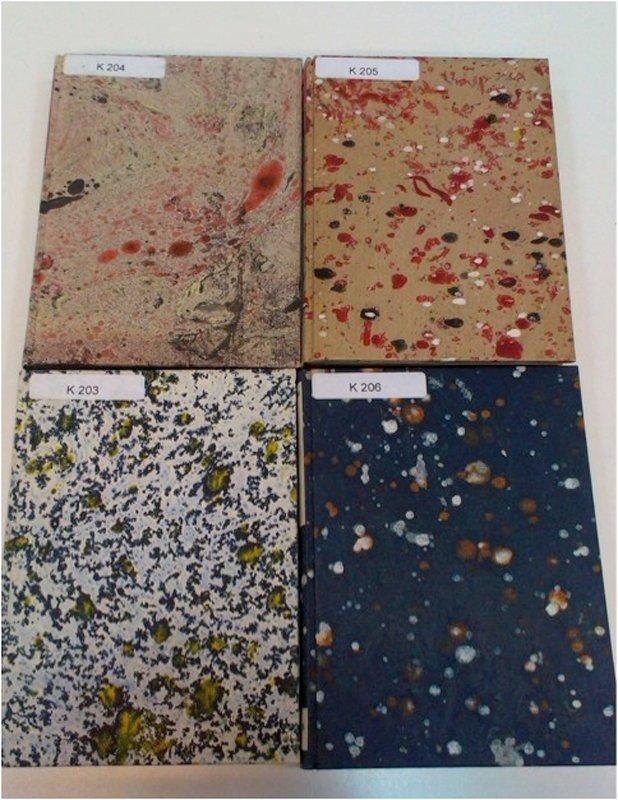 Fire kunstnerbøger af Jens Birkemose, Danmarks Kunstbibliotek.