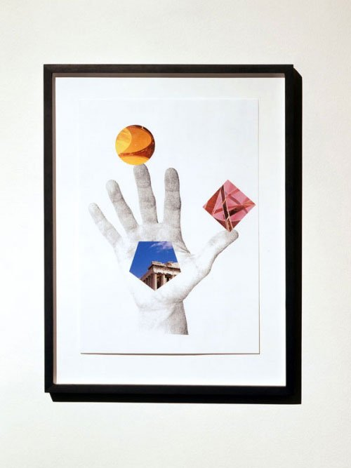 Jacob Dahl Jürgensen, Untitled (Hand of Fate), 2007. Collage. Foto: Marc Räder