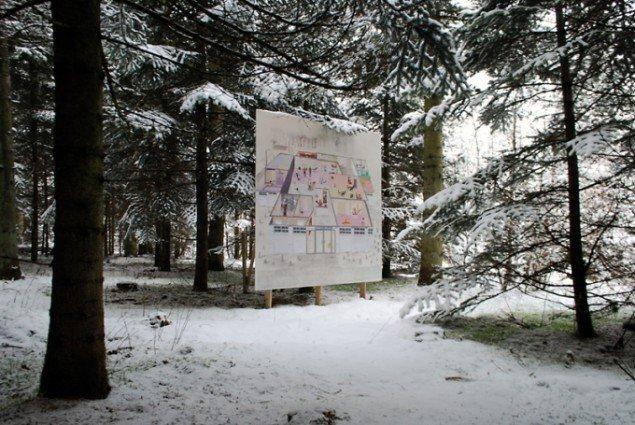 Mette Vangsgaard: Fitness Fitness, Outside is the Forest, 2013, fra Skovsnogen Art Space. Foto: Torben Zenth