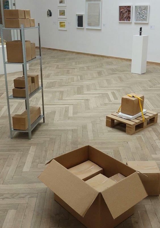 Installationsvue, 2013, Hanne Mago Wiklund. (Foto: Rasmus Kjærboe)