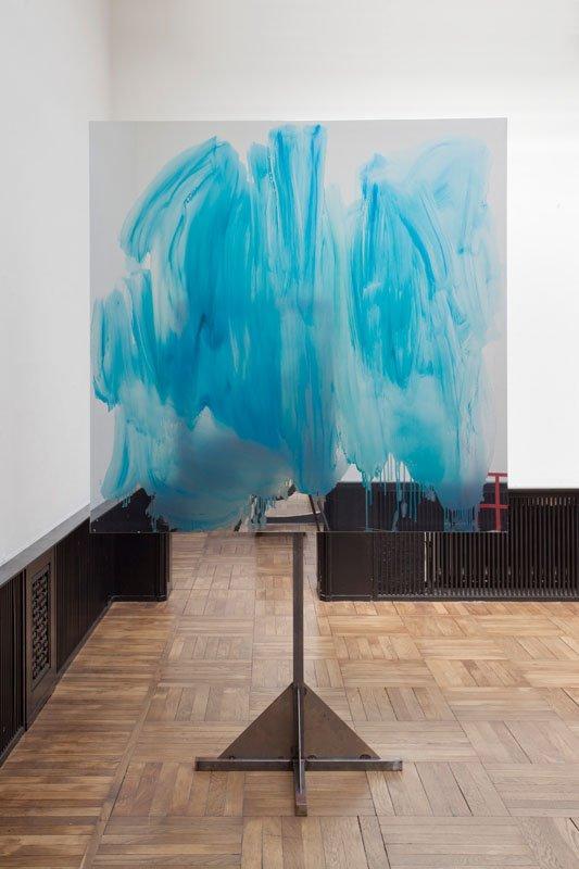 Peter Bonde: U.T. 2011-2013. Olie på spejlfolie, stål. 250 x 160 x 60 cm. Foto: Erling Lykke Jeppesen
