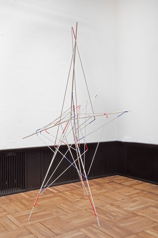 Stefan Nilsson: Spider Higgs 2009/2013 Rundjern, autolak. Foto: Erling Lykke Jeppesenern, autolak. 225 x 215 x 195 cm.