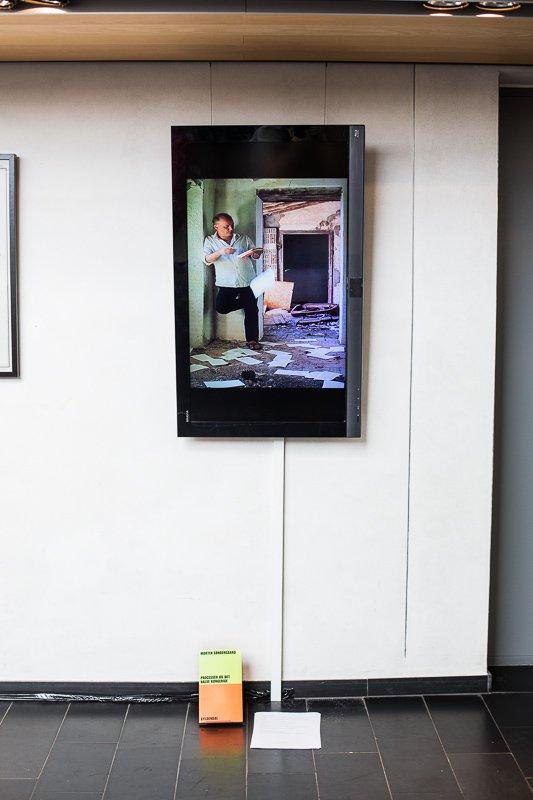 "Morten Søndergaard, ""Mit hus"", 2013, videoloop og oplæsning, foto: Thomas Nørgaard Elvius"