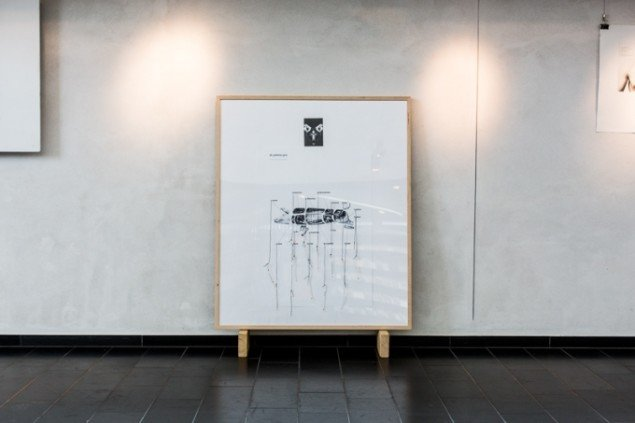 "Eva Tind, ""at partere gris"", 2011, papir, foto: Thomas Nørgaard Elvius"