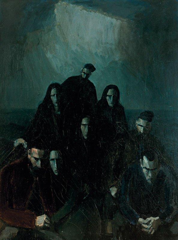 Samuel Joensen-Mikines: Hjem fra begravelsen,1937. (Listasavn Føroyar/Færøernes Kunstmuseum) OBS: ikke en del af udstillingen.
