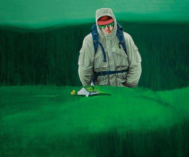 Edward Fuglø: Microstate Hiker, 2009. (Listasavn Føroyar/Færøernes Kunstmuseum)
