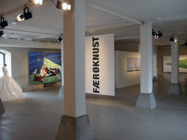 Installationsview, Færøknust, Nordatlantens Brygge. (Foto: Matthias Hvass Borello)