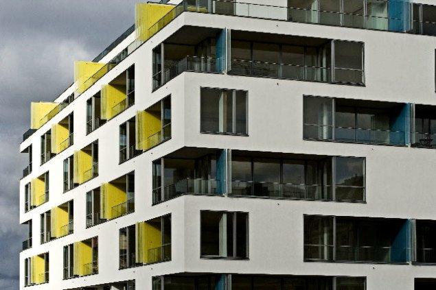 Arktiektfirmaet C. F. Møller integrerede Campaus altan-skillevægge i byggeprojektet Nordlyset og fik prisen for årets smukkeste bygning i København. Foto: Torben Eskerod