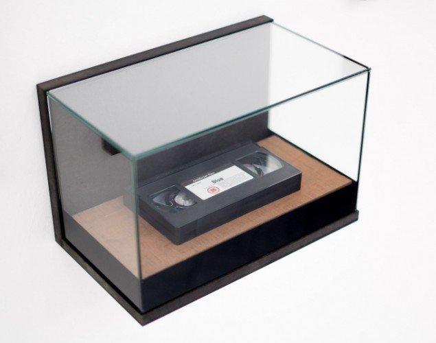 "Letter to Rabi 2011-14, detalje, VHS bånd Derek Jarman's film ""Blue"". Foto: Per Johansson."