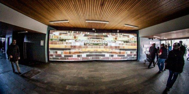 Installationsview, Patrick Bergeron (CA): LOOPLOOP, 2008. (Pressefoto)