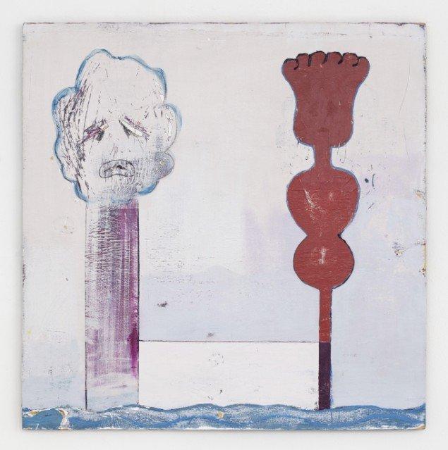Nel Aerts: No going Back, 2013-14, akryl på træ, 82x80,5cm. Foto: Erling Lykke Jeppesen.