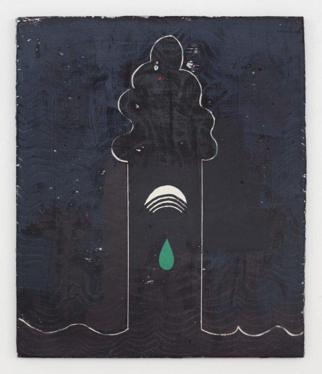 Nel Aerts: Solo at Night, 2011-2014, akryl på træ, 68x57cm. Foto: Erling Lykke Jeppesen.