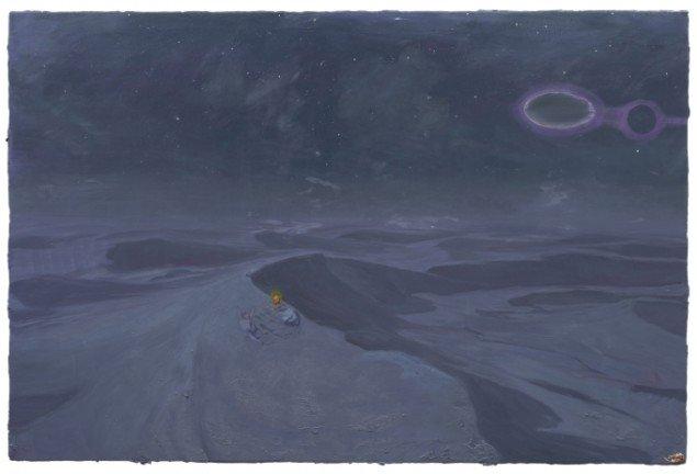 Ruprecht von Kauffmann: Die Nacht, 140x210 cm. Courtesy Galerie MøllerWitt.