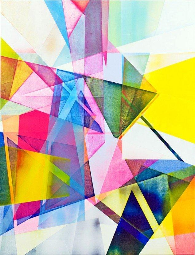 Torben Giehler: Matrix Rainbow, 130x100cm. Courtesy Galerie MøllerWitt.