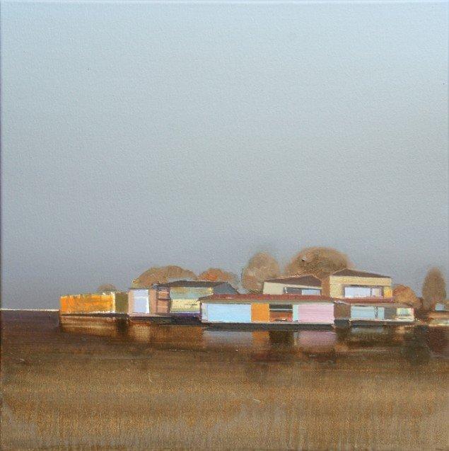 Ulf Puder: Sommerabend am Südstrand, 50x50cm. Courtesy Galerie MøllerWitt.