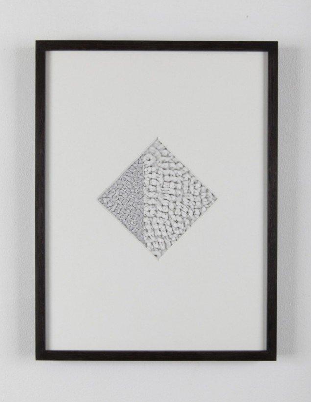 Ebbe Stub Wittrup:  Synesthesia, 2013. Photogram, Gelatin Silver Print, 41 x 31 cm. Two Faced Vase, Martin Asbæk Gallery, 2013. Foto: David Stjernholm.