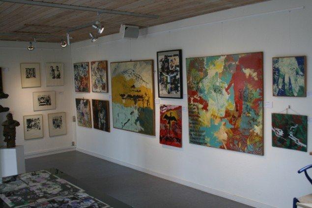 Peter Louis-Jensens hjørne på udstillingen. Foto Lasse Juhl Nielsen.