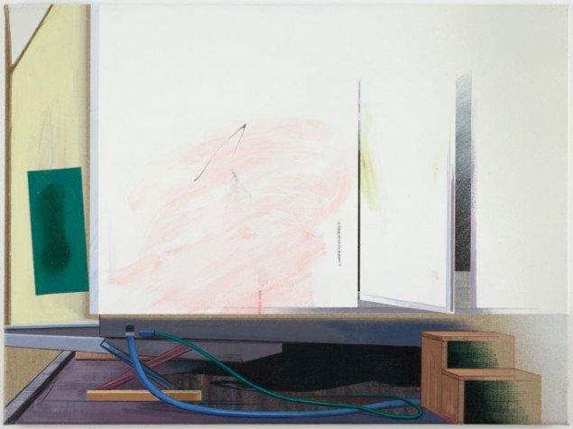Ivan Andersen: TL12, 2014. Olie, akryl, spray paint, lærred på lærred. 60 cm x 80 cm. På Troværdige løgne, Galleri Bo Bjerggaard. Courtesy Gallleri Bo Bjerggaard