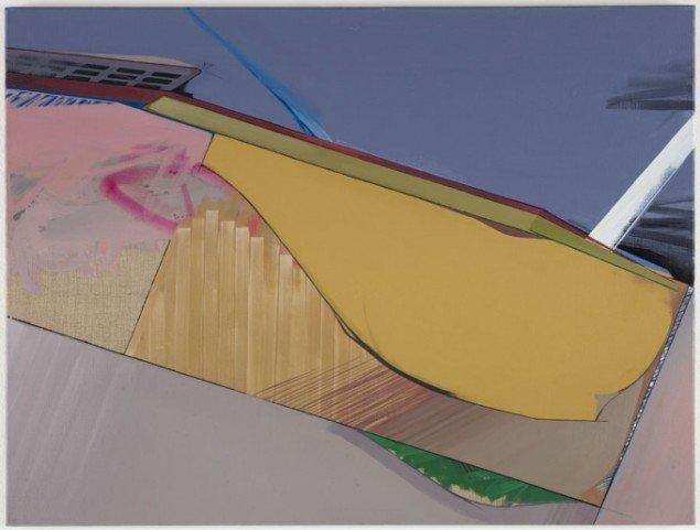 Ivan Andersen: TL14, 2014. Olie, akryl, spray paint på lærred. 60 cm x 80 cm. På Troværdige løgne, Galleri Bo Bjerggaard. Courtesy Gallleri Bo Bjerggaard