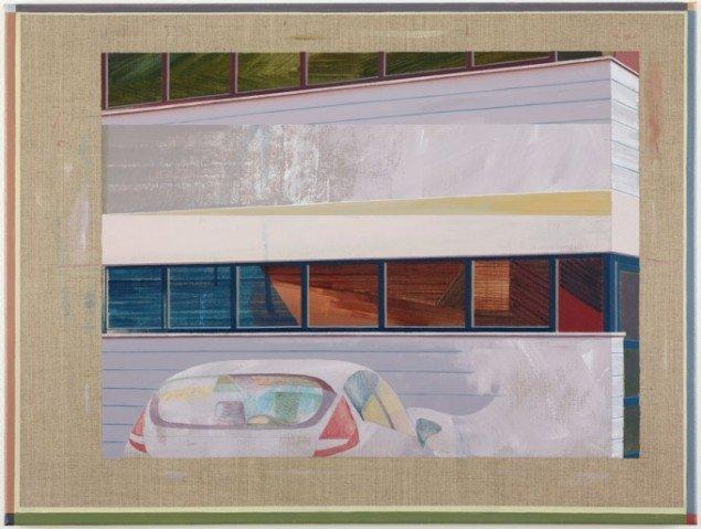 Ivan Andersen: TL01, 2014. Olie og akryl på lærred. 60 cm x 80 cm. På Troværdige løgne, Galleri Bo Bjerggaard. Courtesy Gallleri Bo Bjerggaard