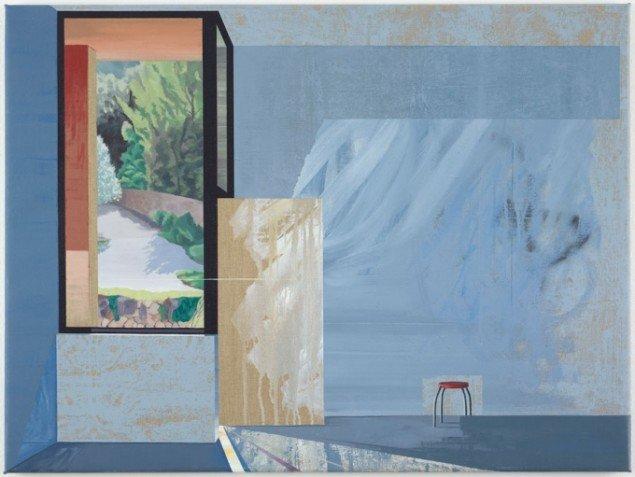 Ivan Andersen: TL11, 2014. Olie, akryl og spray paint på lærred. 60 cm x 80 cm. På Troværdige løgne, Galleri Bo Bjerggaard. Courtesy Gallleri Bo Bjerggaard