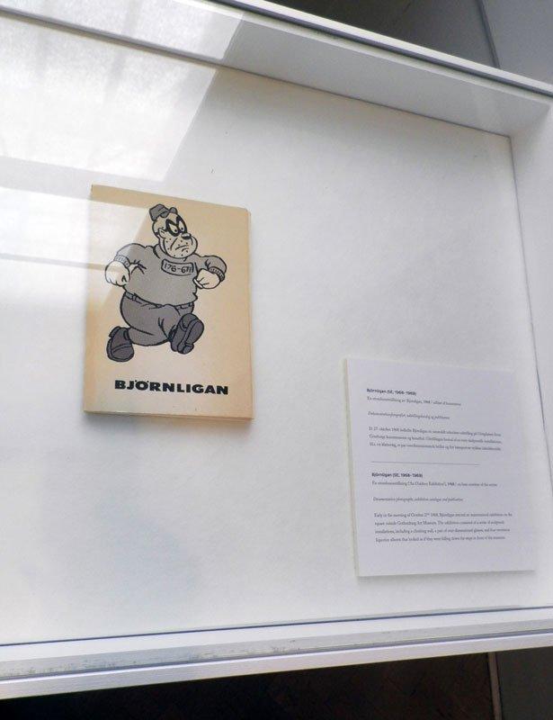Historisk montre-præg ved fremvisning af Björnligan's aktiviteter i 1960'erne. (Foto: Kristian Handberg)