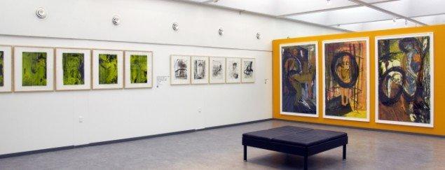 Udstillingsview fra Erik A. Frandsen - Det grafiske værk , Randers Kunstmuseum. Foto: Randers Kunstmuseum