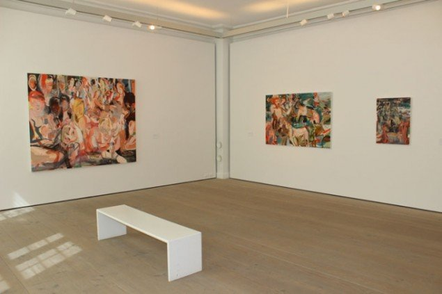 Installationsview, Paint New York med værker af Cecily Brown. (Foto: Léa Nielsen)