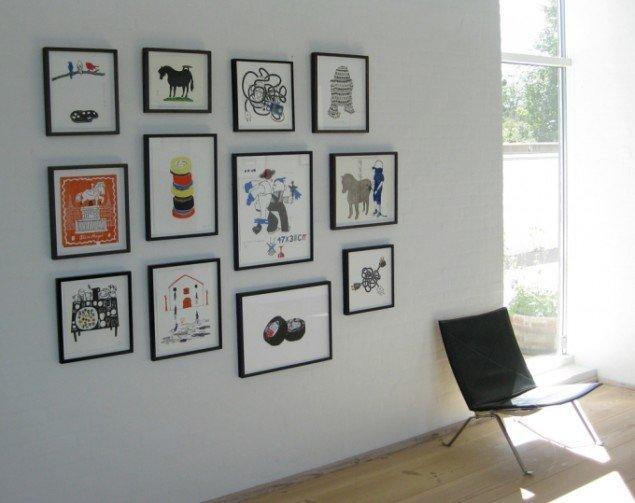 Udstillingsview med diverse tryk fra Det Milde Vesten, m.galleri. Foto: Rose Eken og Søren Behncke