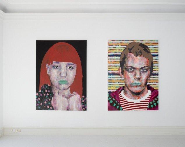 Udstillingsview med værker af Mustafa Maluka på African contemporary art, Galerie Mikael Andersen. Foto: Jan Søndergaard