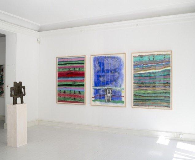Udstillingsview med værker af Moshekwa Langa på African contemporary art, Galerie Mikael Andersen. Foto: Jan Søndergaard