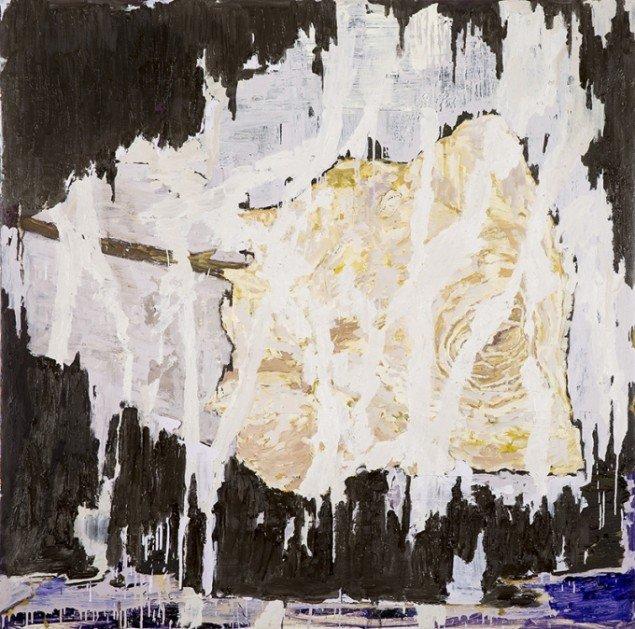 Kehnet Nielsen: The Darkland Sketches XX, 2014. Olie på lærred, 200 x 200 cm. På The Darkland Sketches, Galleri Susanne Ottesen. Foto: Hans Ole Madsen