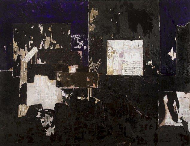 Kehnet Nielsen: The Darkland Sketches VI, 2014. Olie på lærred, 275 x 357 cm. På The Darkland Sketches, Galleri Susanne Ottesen. Foto: Hans Ole Madsen